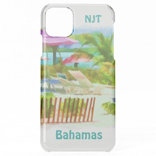 Painterly Bahamas Summer Vacation Beach Scene iPhone 11 Pro Max Case