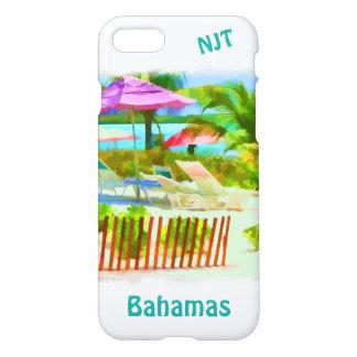 Painterly Bahamas Summer Vacation Beach Scene iPhone 7 Case