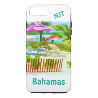 Painterly Bahamas Summer Vacation Beach Scene iPhone 7 Plus Case