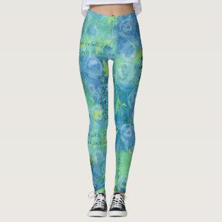 Painterly blooms leggings