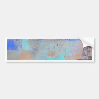 Painterly Blues - Horizontal Bumper Sticker
