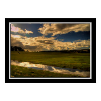 Painterly Field Photo Poster