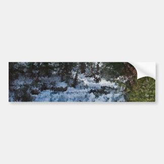 Painterly Forrest Bumper Sticker