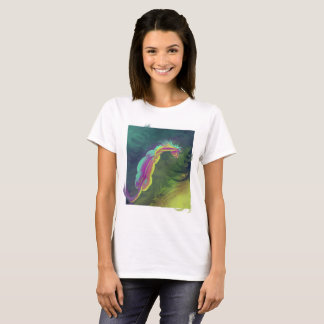 Painterly horse looking into pool T-Shirt