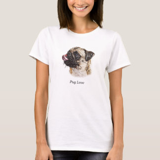 Painterly Pug Watercolor T-Shirt