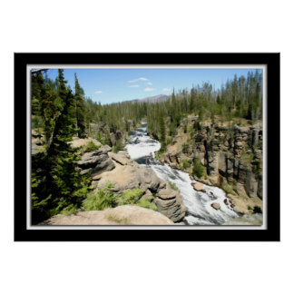 Painterly River in Yellowstone Poster