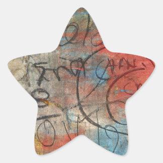 Painterly Scribbles Star Sticker