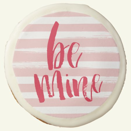Painterly stripe be mine cookies - 3.5""