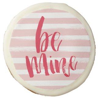 """Painterly stripe be mine cookies - 3.5"""" sugar cookie"""