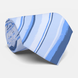 Painterly Striped Blue Two-Sided Wedding Tie