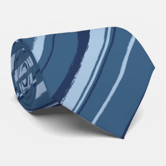 Painterly Striped Denim Blues Two-Sided Tie