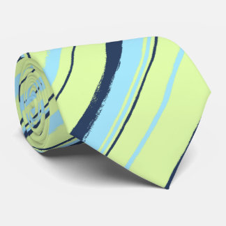 Painterly Striped Lime Two-Sided Wedding Neck Tie