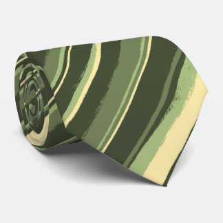 Painterly Striped Olive & Yellow Two-Sided Tie