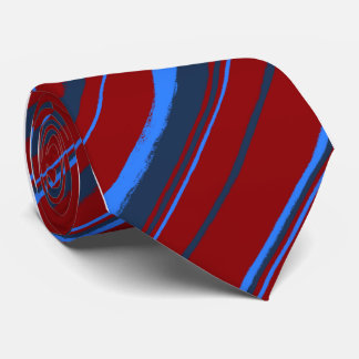 Painterly Striped Red Single Sided Neck Tie