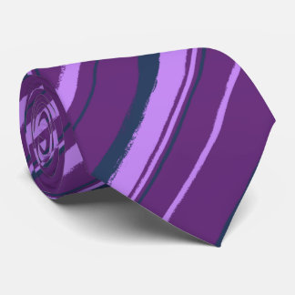 Painterly Striped Violet & Navy Two-Sided Tie