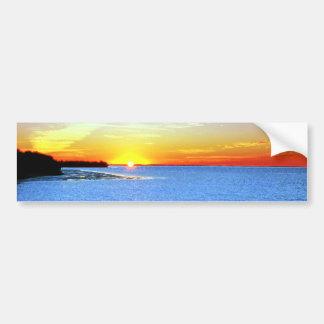 Painterly Sunset Bumper Sticker