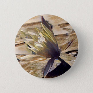 Painterly Waterlily Button