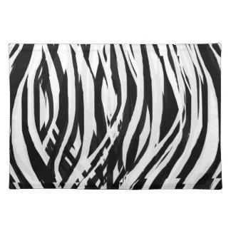 Painterly Zebra Pattern 1 by KCS Cloth Placemat