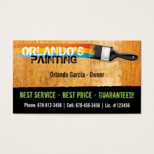 Painter business cards templates zazzle painters business card colourmoves Image collections
