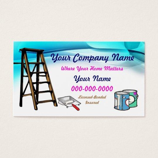 Painters business card zazzle painters business card colourmoves Image collections