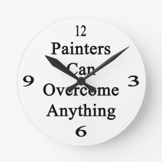 Painters Can Overcome Anything Wallclocks