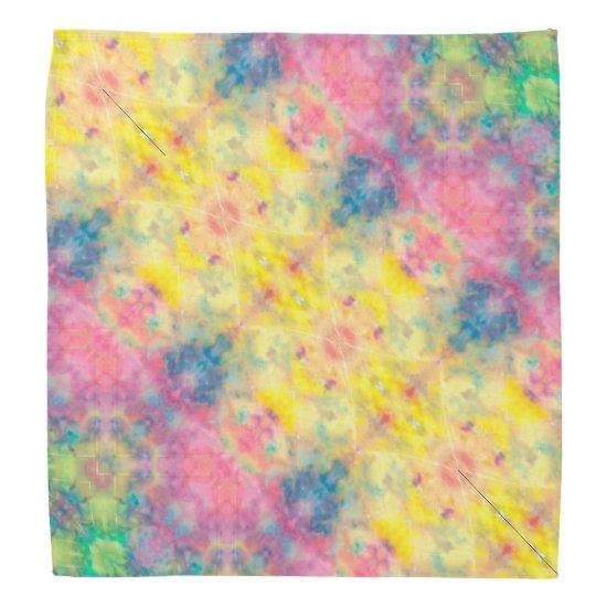 [Painter's Cloth] Pastel Fractal Tie-Dye Bandana