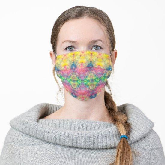 [Painter's Cloth] Pastel Fractal Tie-Dye Cloth Face Mask