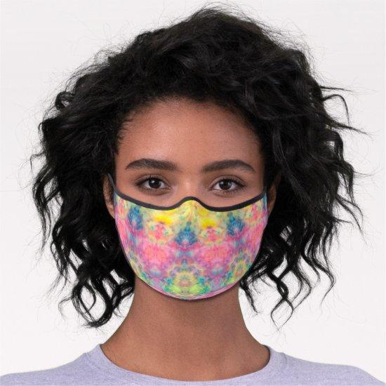 [Painter's Cloth] Pastel Fractal Tie-Dye Premium Face Mask