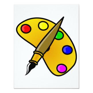 Painters Color Palette Invitations