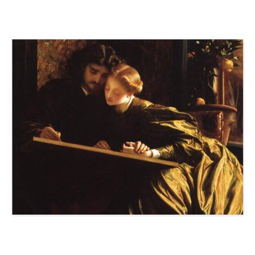 Painter's Honeymoon by Leighton, Victorian Art Post Card