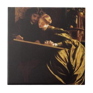 Painter's Honeymoon by Leighton, Victorian Art Tile