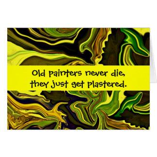 painters humor card