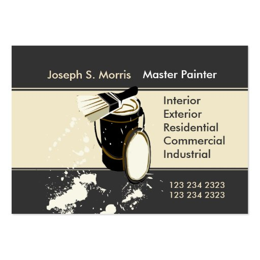 Painters  Painting Services Business Cards