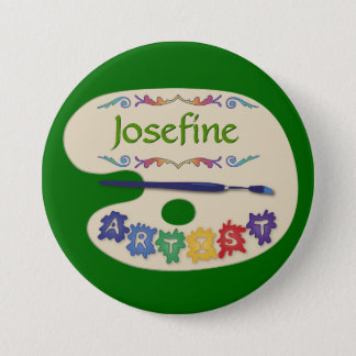 Painters Palette Artist Name Button