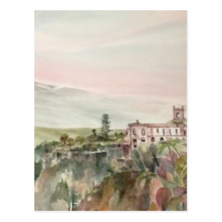 Painti Sicily Italy with Mpunt Etna Postcard