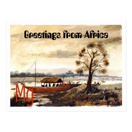 PAINTING 7 copy, Greetings from Africa Postcard