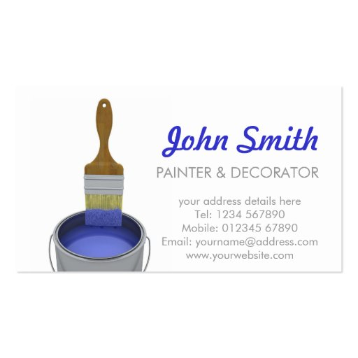 Painting contractors business card templates bizcardstudio for Painter business card template