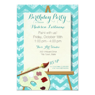 Painting Art Birthday Party 5x7 Paper Invitation Card