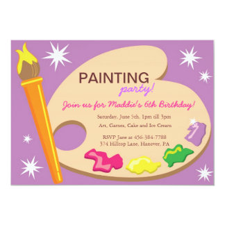 Painting & Art Birthday Party Invitations