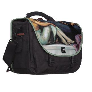 Painting Art, Good luck, Julio Romero de Torres Laptop Messenger Bag