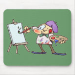Painting Artist Mouse Mat