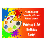 Painting Birthday/Art Party Card