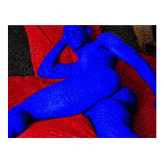 Painting:  Black AsS Blue Postcard