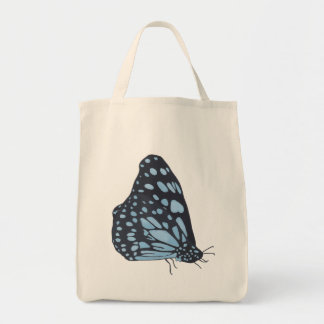 Painting Black Butterfly Blue Spots Custom Bags