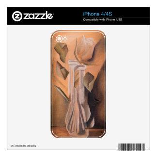 Painting - Broken Rose iPhone 4 Decal