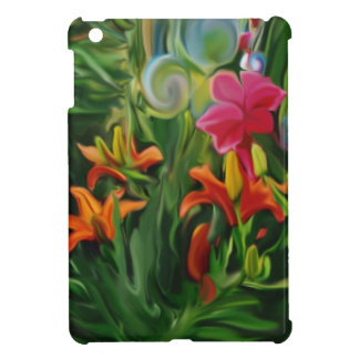Painting bubbles and flowers iPad mini case