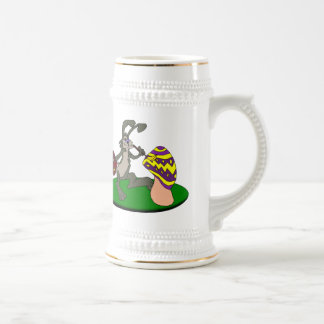 Painting Bunny 18 Oz Beer Stein