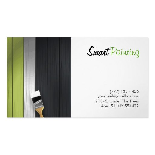Painting business card zazzle for Painter business card template