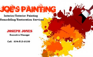 Paint samples office products supplies zazzle painting business card sample ii business card colourmoves Images