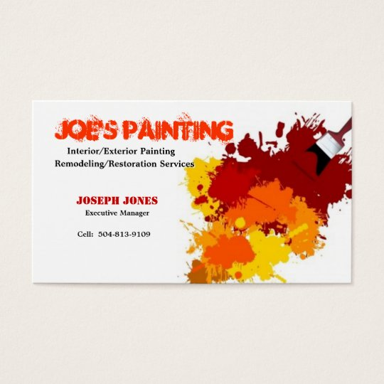 Painting business card sample ii business card zazzle painting business card sample ii business card colourmoves